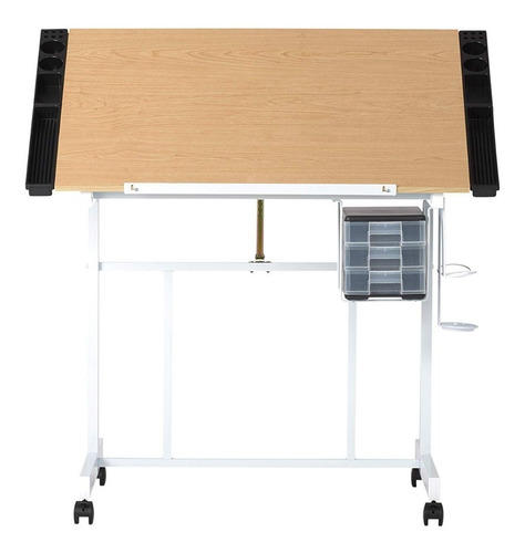 mesa dibujo restirador ajustable madera arce blanco