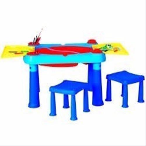 mesa didactica barbie con 2 bancos biemme escolar infantil