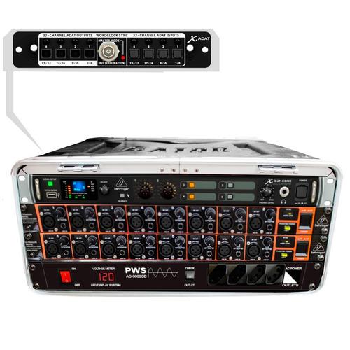 mesa digital 16ch/16aux portátil c/ case - x32core 16 mk vr