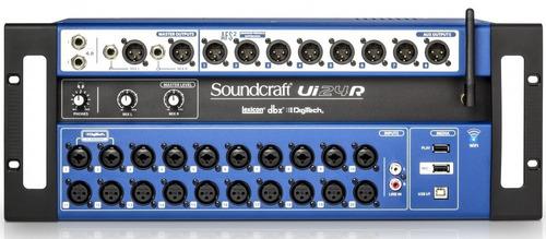 mesa digital 24 canais rack ui 24 soundcraft
