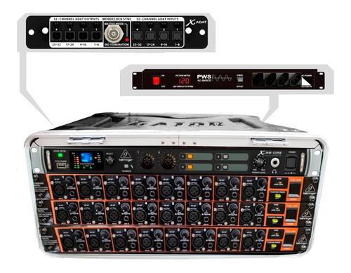 mesa digital 24ch/16aux portátil c/ case - x32core 24 mk vr