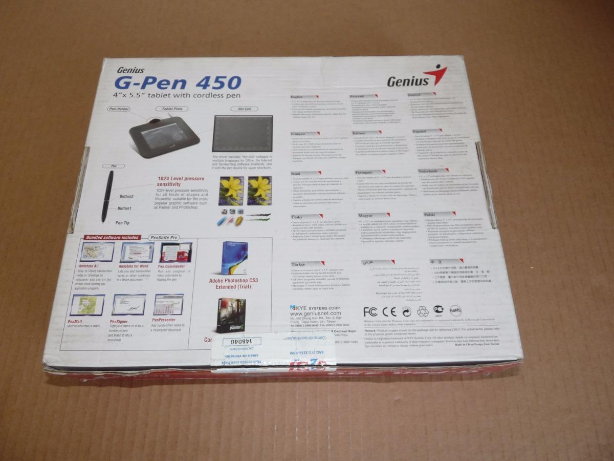 Mesa Digitalizadora Genius G-pen 450 - Sem Caneta