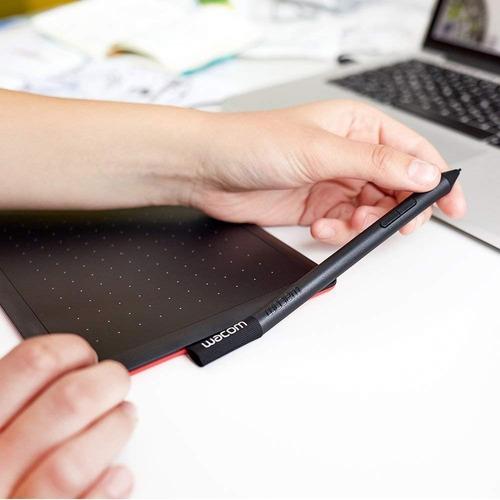 mesa digitalizadora wacom one by wacom ctl472l + (brinde) capa de couro asus branco