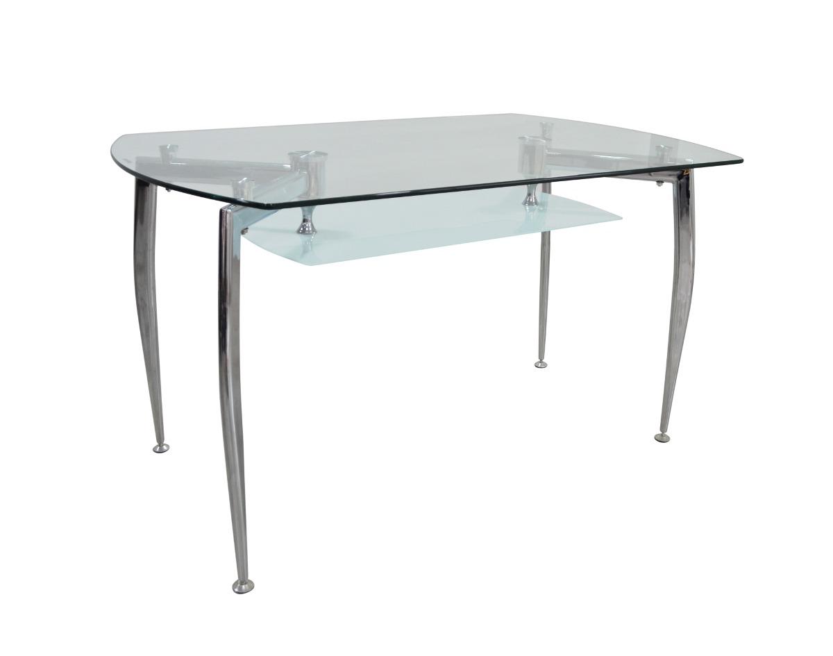 Mesa dise o moderno de 4 puestos vidrio templado boston for Vidrio templado mesa