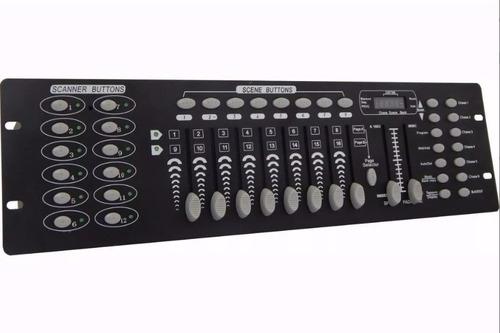 mesa dmx 512 c/ 192 canais p/ efeitos como strobo e outros