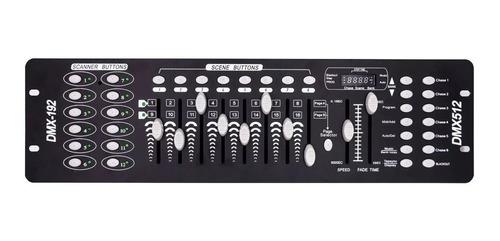 mesa dmx 512 c/ 192 canais p/ efeitos par led refletor