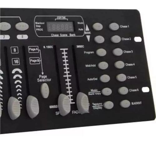 mesa dmx iluminação 512 controla efeitos led  cabo e font nv