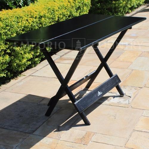mesa dobrável 1,20x70 em madeira maciça