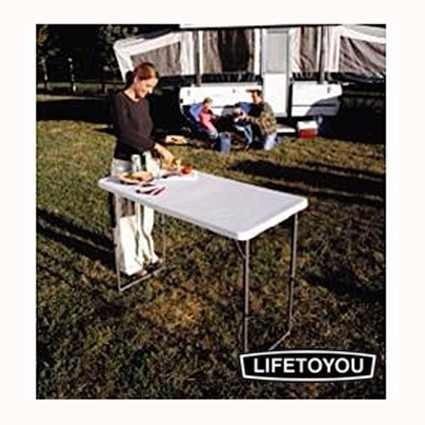 mesa dobravel 1,22m vira maleta camping com ajuste de altura