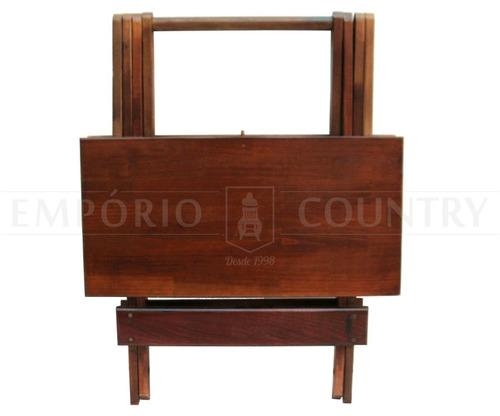 mesa dobrável 70x70 em madeira maciça