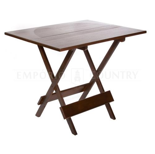 mesa dobrável 90x70 em madeira maciça