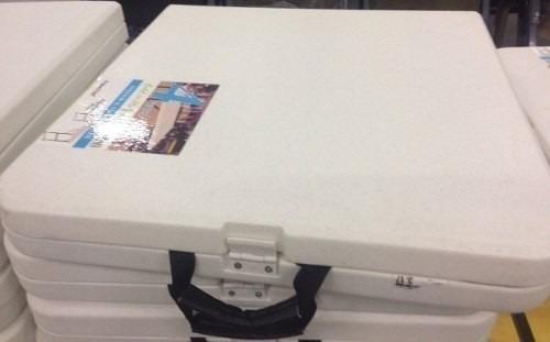 mesa dobrável aço ajuste altura 1,21 m vira maleta- maxchief