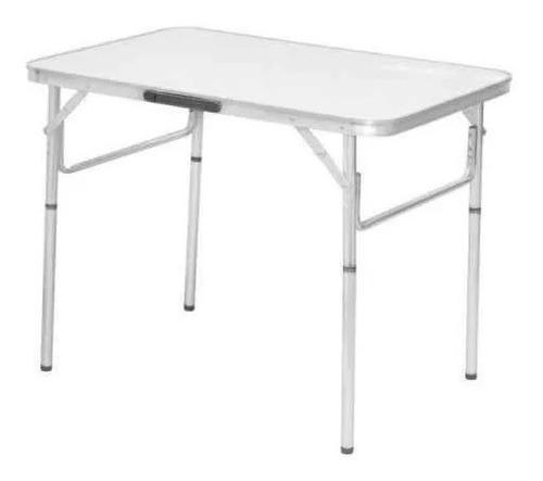 mesa dobrável alumínio 90x60 cm vira maleta 695838 palisad