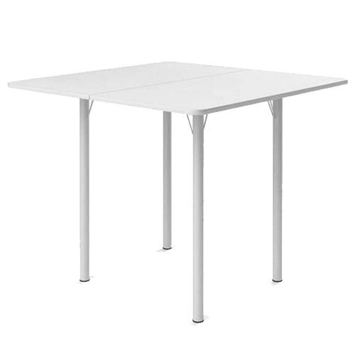 mesa dobrável com 4 banquetas  branca