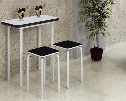 mesa dobrável com 4 banquetas pronta entrega || apenas rj