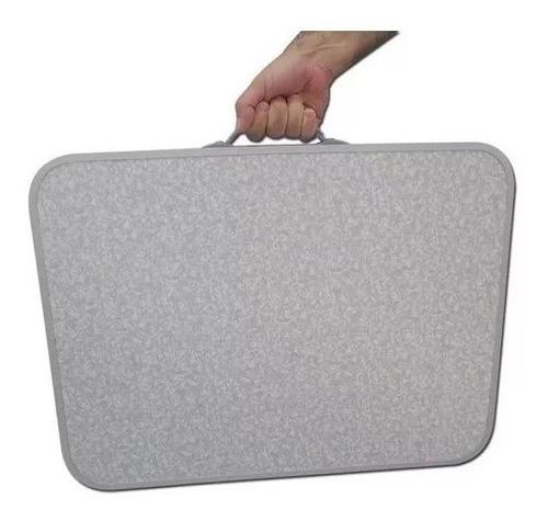 mesa dobrável de alumínio 60x45cm vira maleta palisad