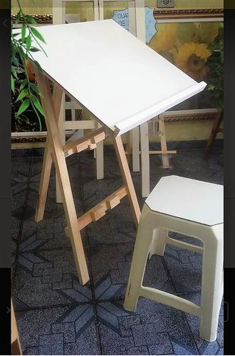mesa dobrável de desenho e pintura ou lousa - frete grátis