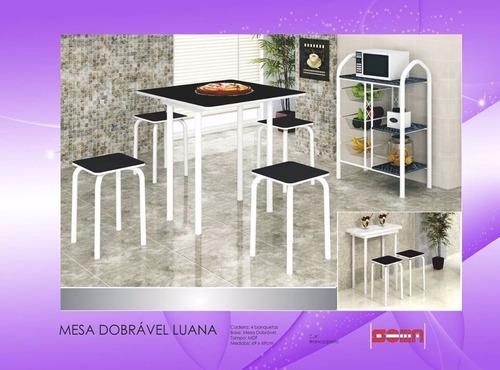 mesa dobrável luana 4 banqueta //somente para rj//