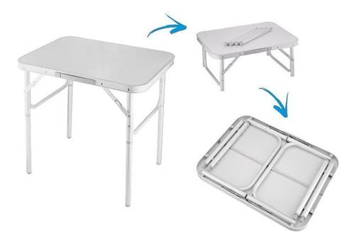 mesa dobravel portatil vira maleta 60x45cm
