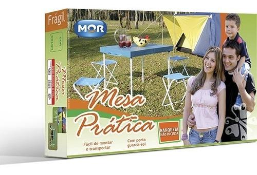mesa dobravel portatil vira maleta camping profissional