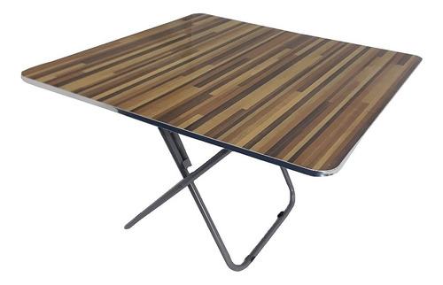 mesa dobravel quadrada 80cm portatil com armação em aço casa