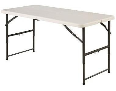 mesa dobravel vira mala maxchief 1.22m com ajuste de altura