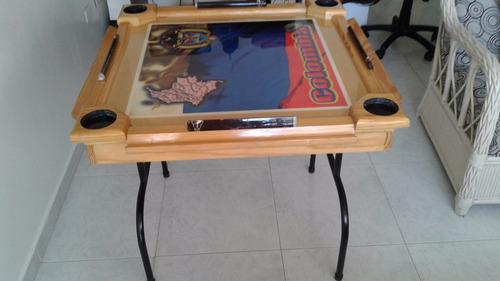 mesa dominó original gueren plastificada
