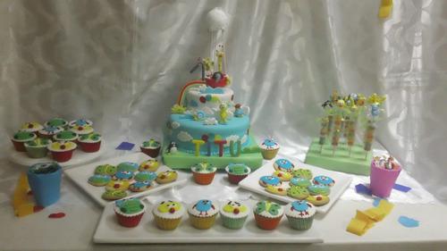mesa dulce temática decorada baby tv, para 30 chicos!