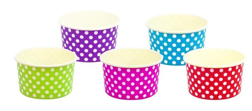 Mesa dulces fiesta vaso lunares dulcero cumplea os - Decorar vasos plasticos para cumpleanos ...