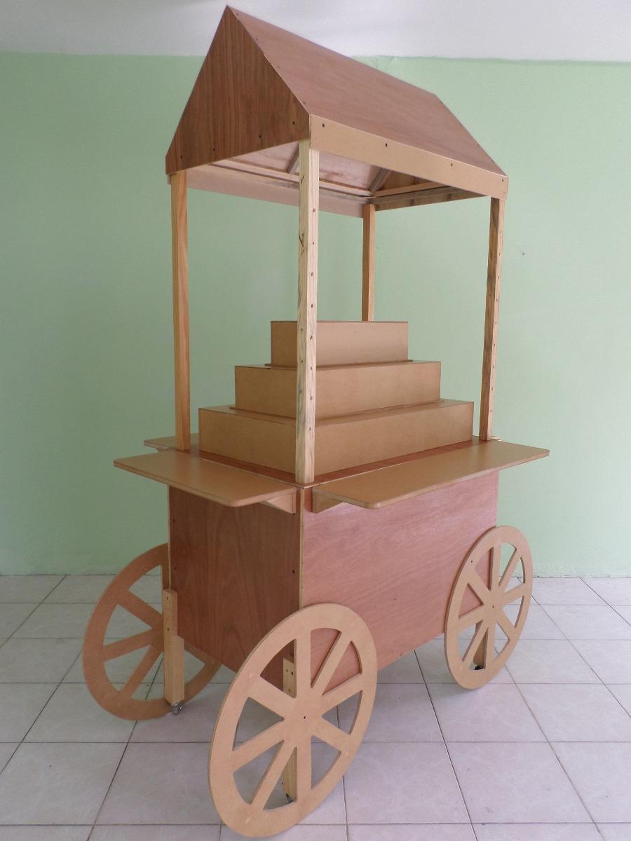 Carreta para mesa de dulces sin pintar 2 en mercado libre - Fotos en madera ...