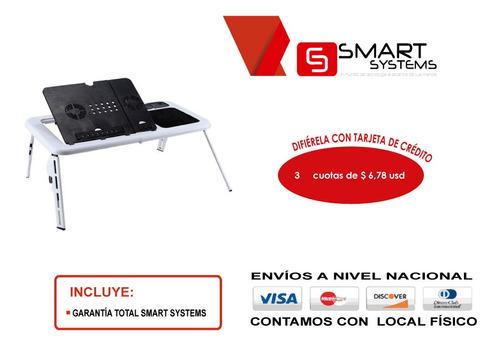 mesa e-table para laptops con ventilador usb