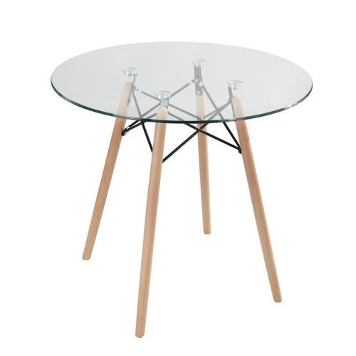 mesa eames cristal comedor moderno minimalista vintage