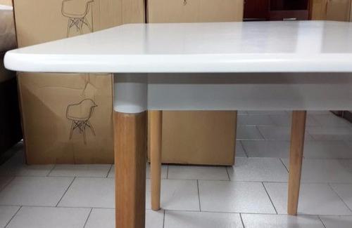 mesa eames rectangular blanca o negra 140x80 nacional