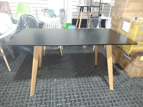 mesa eames rectangular tapa madera 150cm x 80cm