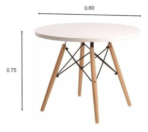 mesa eames redonda 0,60 tapa blanca