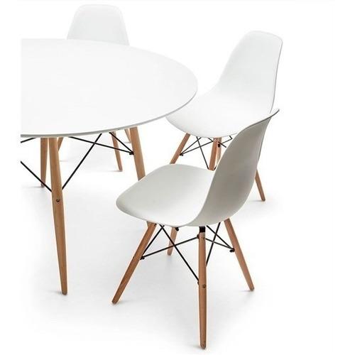 mesa eames redonda 120 cm diseño vintage / kubus