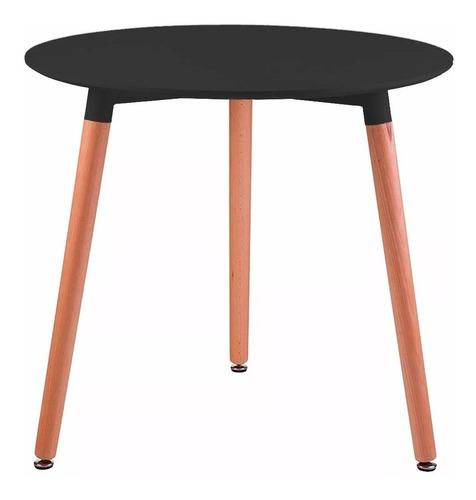 mesa eames redonda 80cm 3 patas de madera