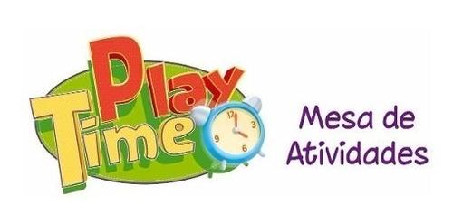 mesa educativa de atividades cotiplás rosa play time menina