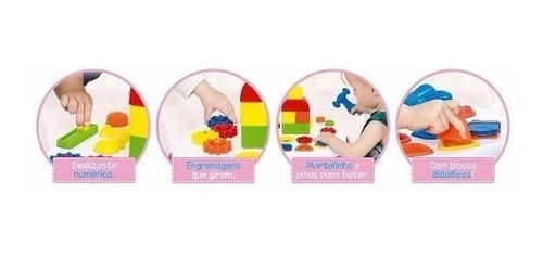 mesa educativa rosa atividades menina - cotiplás