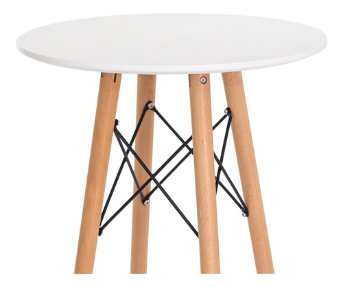 mesa eiffel eames bistrô base madeira branca 60cm