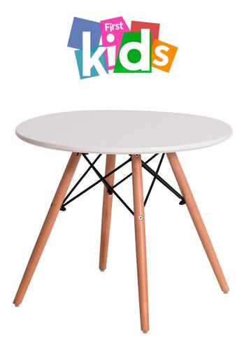 mesa eiffel eames kids base madeira branca 60 cm
