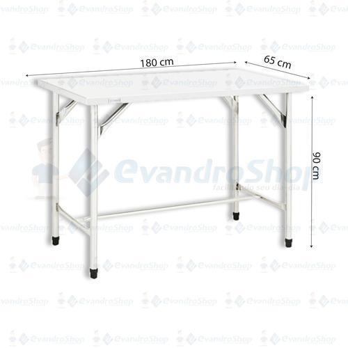mesa em aço inox 180cm x 65cm açougue, frigoríficos *