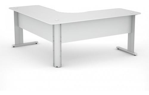 mesa em l estação de trabalho escritório 140x140