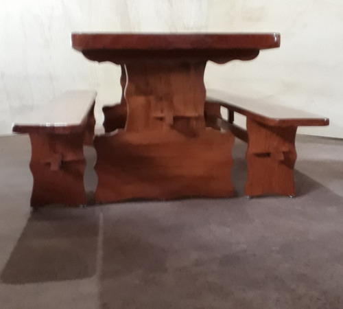 mesa em prancha 2mx0,80m angelim, verniz p.u. com emenda