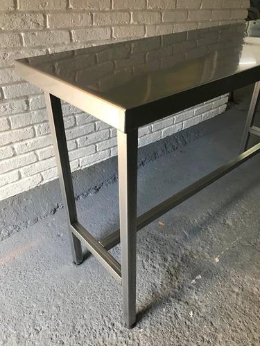 mesa en acero inoxidable 1.50  x 0.50 x 0.90, gastronomia