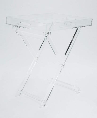 mesa en acrilico plegable - importada