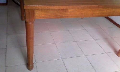 mesa en cerejeira con 6 sillas