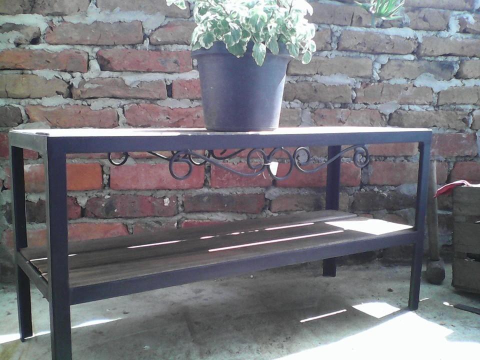 Mesa en hierro para pecera o jardin se fabrican a medida for Mesas de hierro para jardin