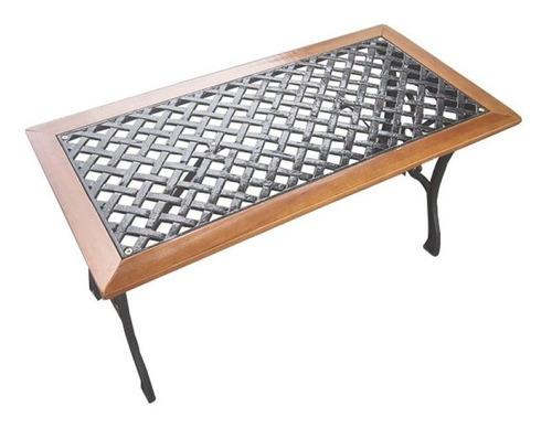 mesa en hierro y madera