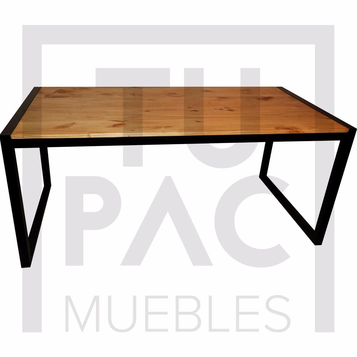 Mesa En Hierro Y Madera - Tupac Muebles - $ 5.499,00 en Mercado Libre